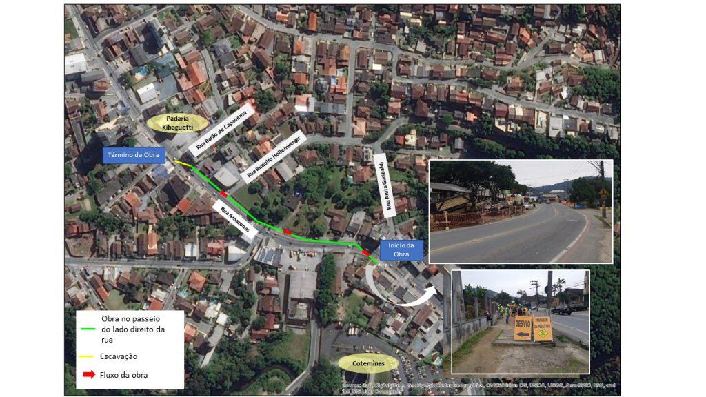 BRK Ambiental realiza última etapa da implantação de esgoto na Rua Amazonas
